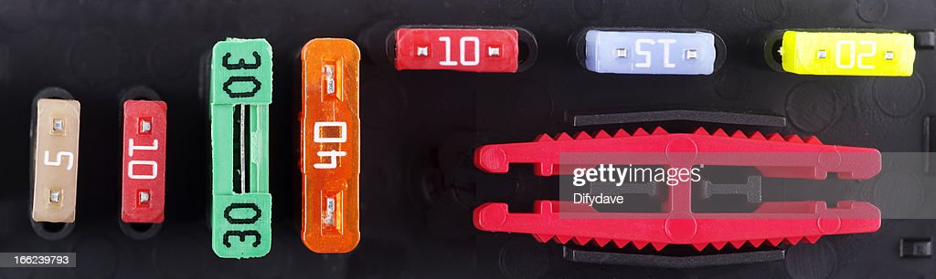 Zusätzliche Sicherung Inhaber von modernen Auto : Stock-Foto