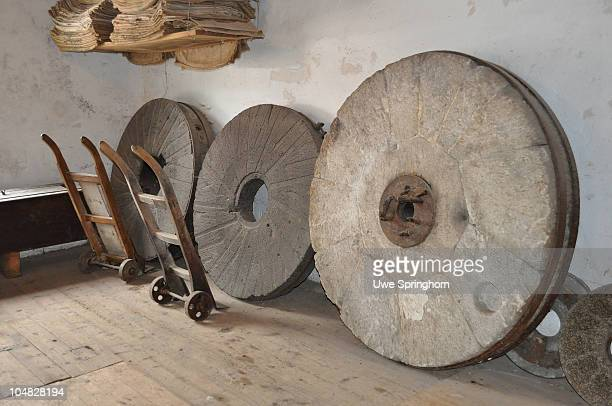 Spare Millstones in an old Watermill in Germany