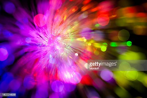 sparkle of defocused lights. abstract background - illuminate stock photos and pictures