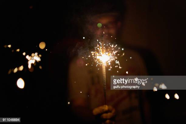 sparkle up your life - diwali celebration stock photos and pictures