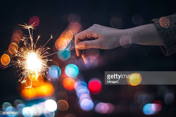 Sparkler and Bokeh