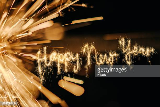 sparkler happy new year - 2019 foto e immagini stock