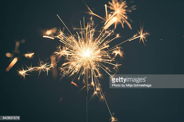 Sparkler on dark background
