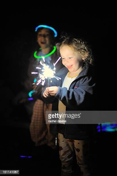 Sparklers and glow sticks