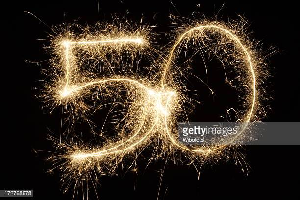 sparkling 50 - number 50 stock photos and pictures