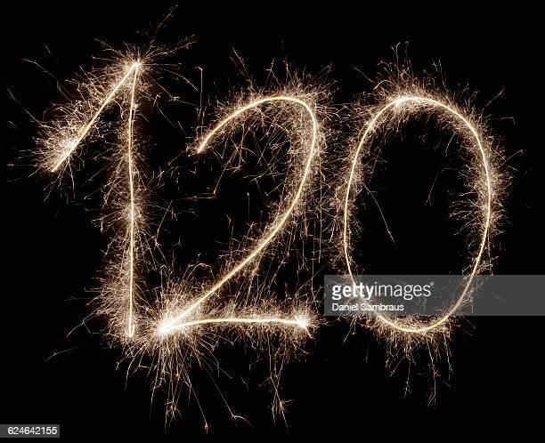 sparkling celebration number 120 - daniel funke stock-fotos und bilder