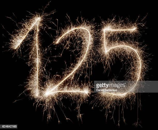 sparkling celebration number 125 - daniel funke stock-fotos und bilder