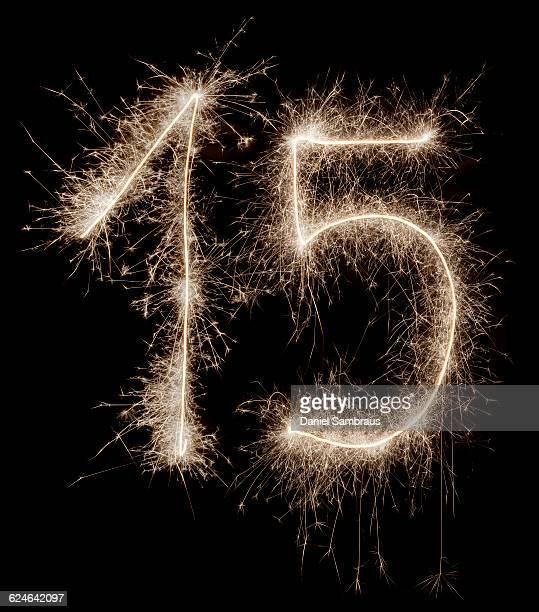 sparkling celebration number 15 - daniel funke stock-fotos und bilder
