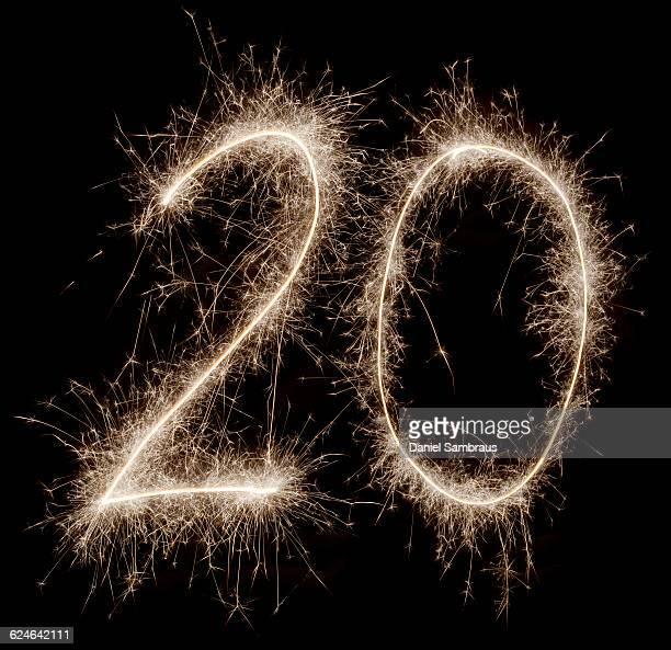 sparkling celebration number 20 - daniel funke stock-fotos und bilder
