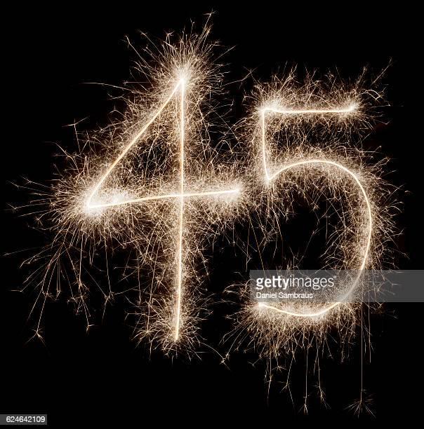 sparkling celebration number 45 - daniel funke stock-fotos und bilder