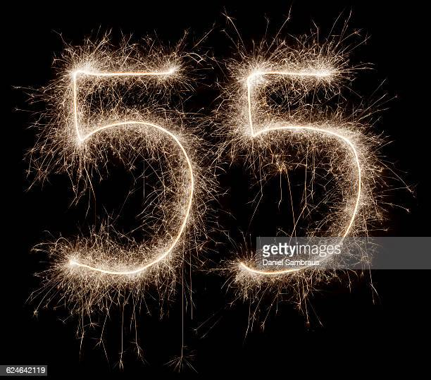 sparkling celebration number 55 - daniel funke stock-fotos und bilder