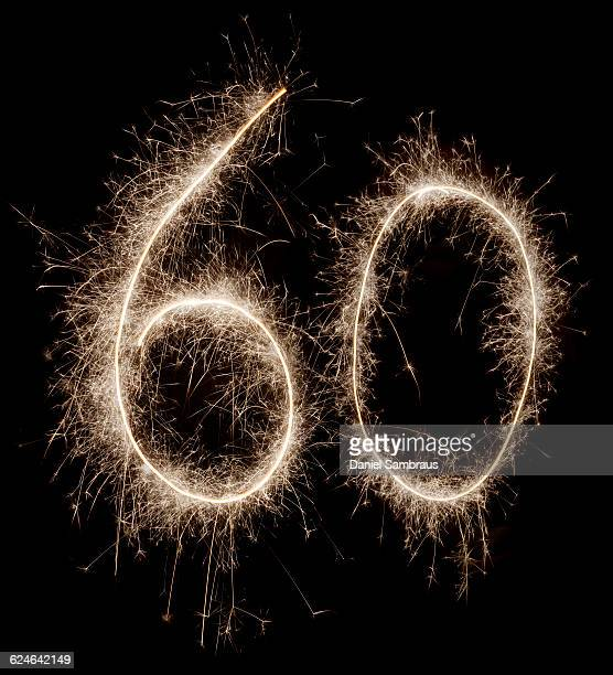 sparkling celebration number 60 - 60th anniversary stock pictures, royalty-free photos & images