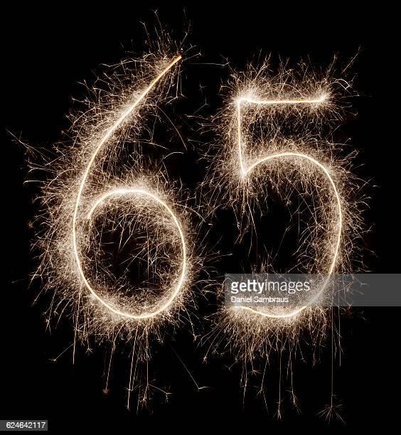 sparkling celebration number 65 - daniel funke stock-fotos und bilder