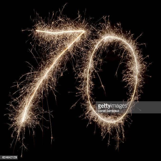 Sparkling celebration number 70
