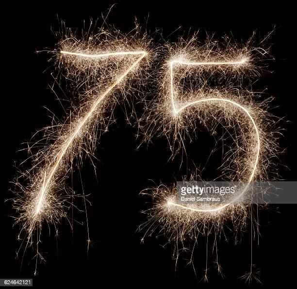 sparkling celebration number 75 - daniel funke stock-fotos und bilder