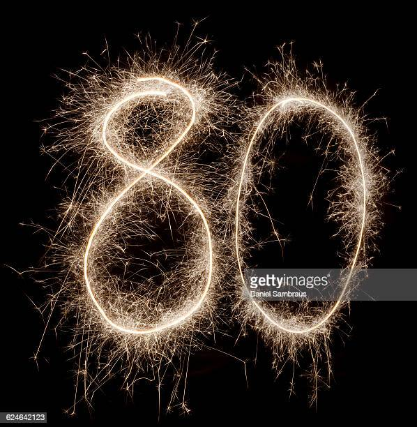 Sparkling celebration number 80