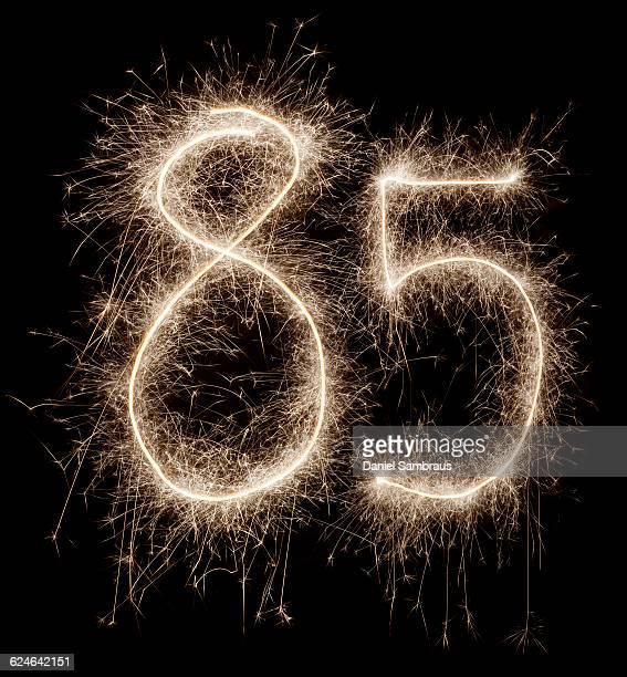 sparkling celebration number 85 - daniel funke stock-fotos und bilder
