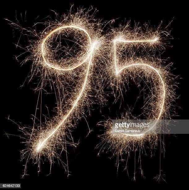 sparkling celebration number 95 - daniel funke stock-fotos und bilder