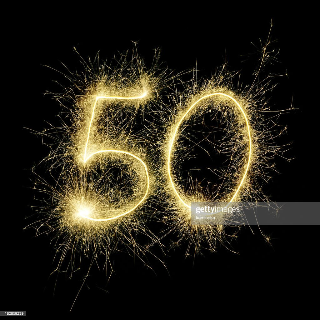 Sparkling Celebration Number Fifty : Stock Photo