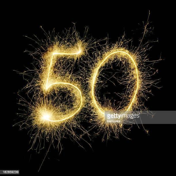 resplandeciente celebración número 50 - aniversario fotografías e imágenes de stock