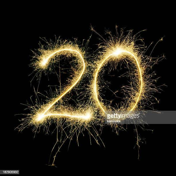 sparkling celebration number twenty - number 20 stock pictures, royalty-free photos & images