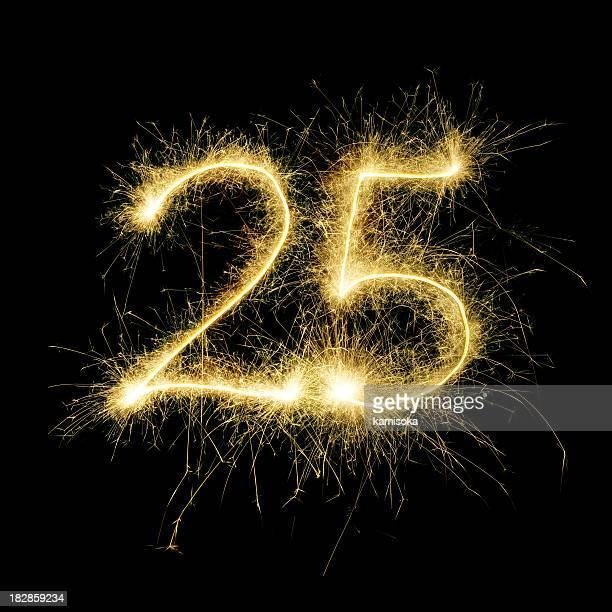 Sparkling Celebration Number Twenty-Five