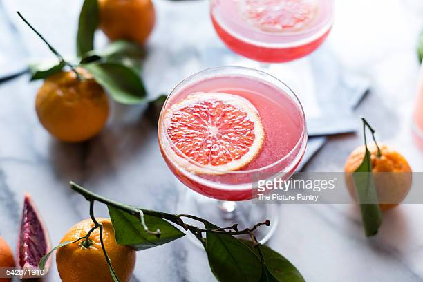 sparkling citrus and prosecco punch - prosecco stock pictures, royalty-free photos & images