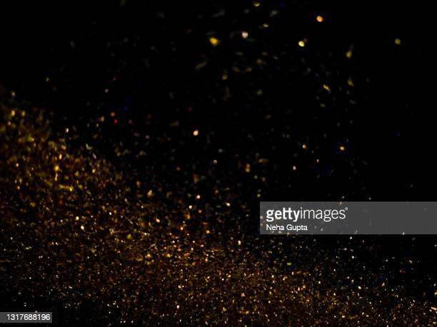 sparkling color abstract - against a black background - pops of bright color stock pictures, royalty-free photos & images