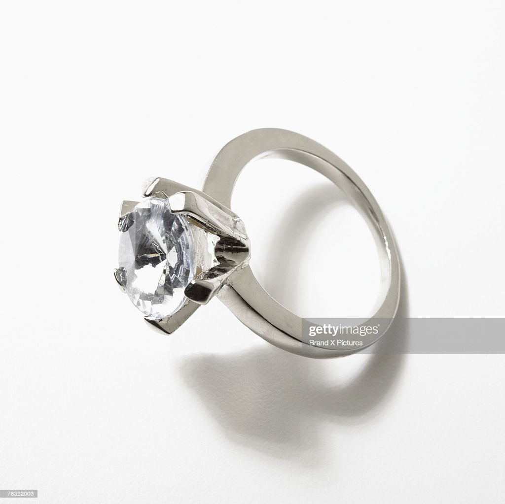 Sparkling engagement ring : Stock Photo