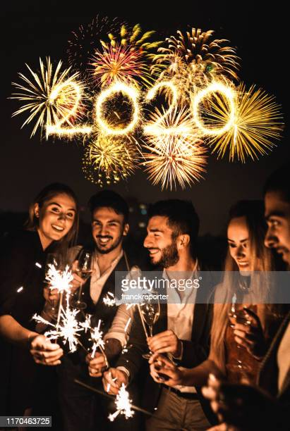 sparkling for the new year 2020 - new year 2020 stock photos and pictures