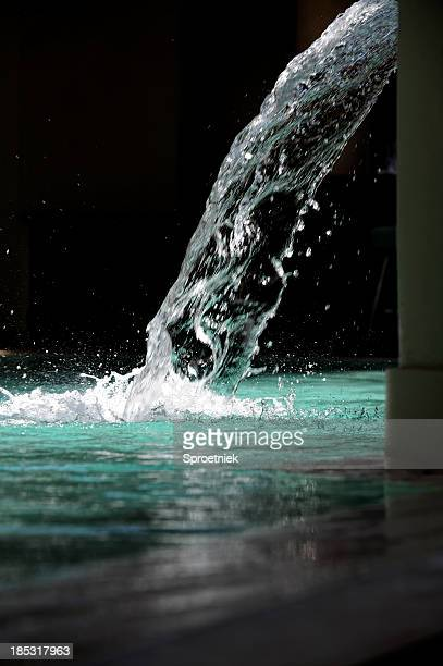 Sparkling fountain of water portrait