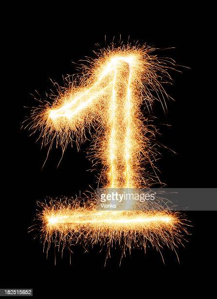 sparkling number 1 - number 1 stock pictures, royalty-free photos & images