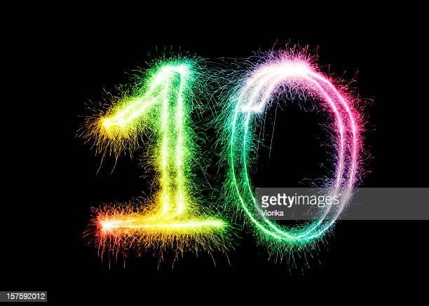 Sparkling Number 10 (XXL)