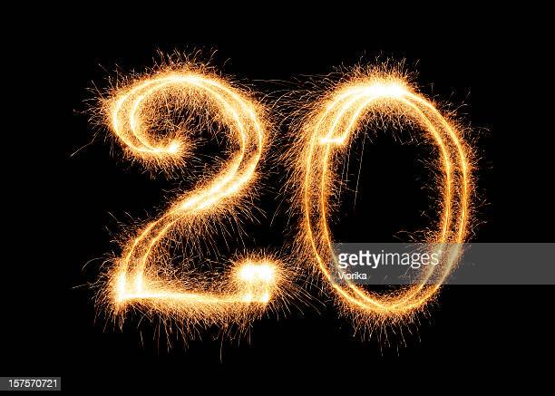 sparkling number 20 (xxl) - number 20 stock pictures, royalty-free photos & images