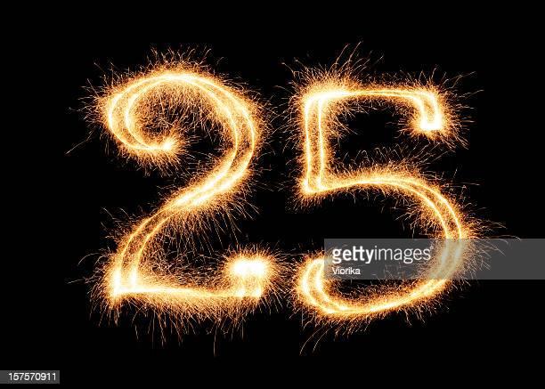 Sparkling Number 25 (XXL)