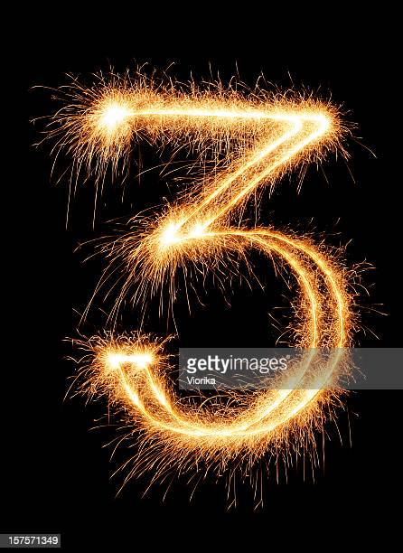 sparkling number 3 - number 3 stock pictures, royalty-free photos & images