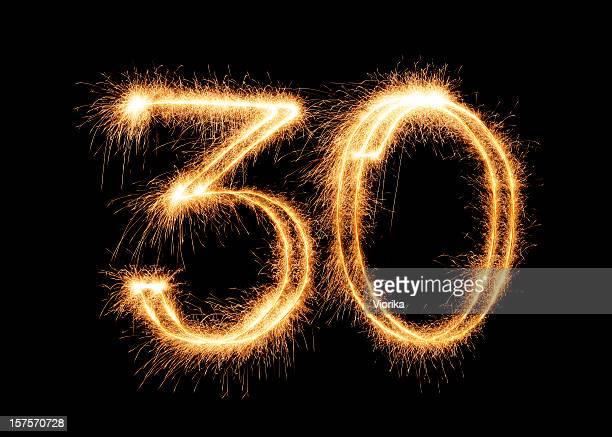 Sparkling Number 30 (XXL)