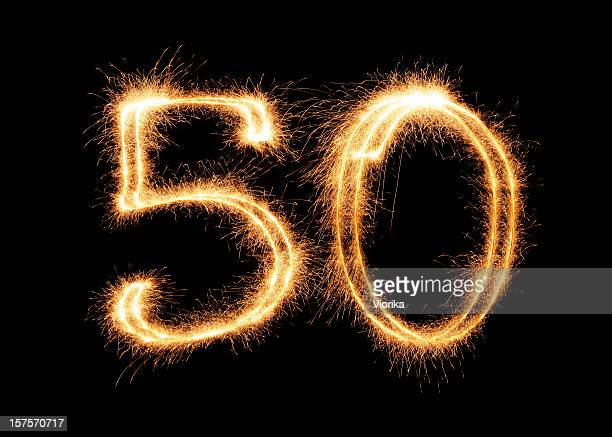 sparkling number 50 (xxl) - anniversary stock pictures, royalty-free photos & images