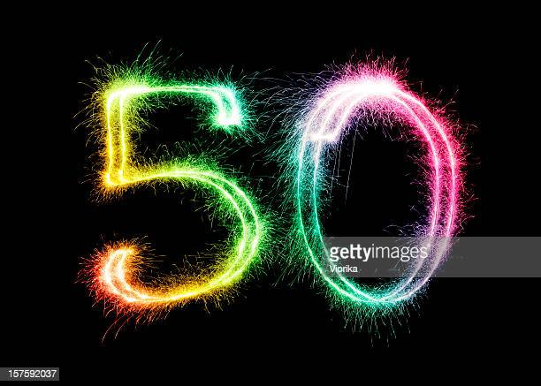 sparkling number 50 (xxl) - number 50 stock photos and pictures