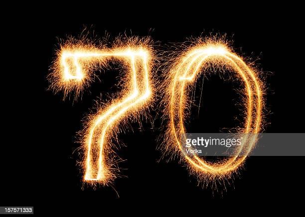 Sparkling Number 70 (XXL)