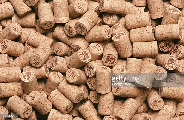 Sparkling wine corks are ready for bottling at Scharffenberger Cellars in this 1988 Anderson Valley California photograph