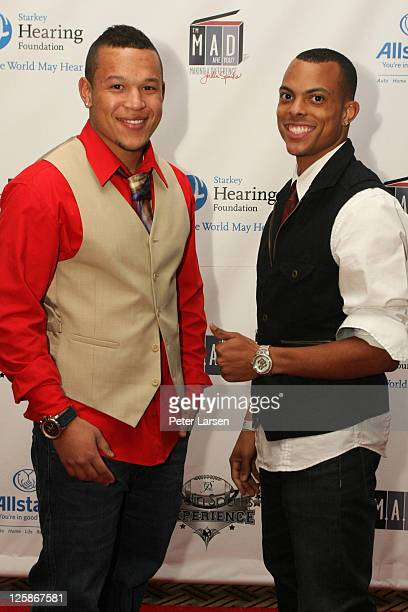 PJ Sparks and Guest attend The 4th Annual Jordin Sparks Super Bowl Experience on February 2 2011 in Arlington Texas