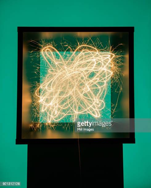 sparks flying around inside of box - electrical box stock pictures, royalty-free photos & images