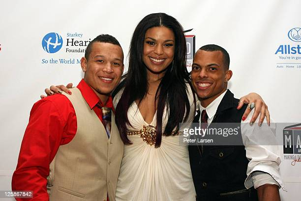 PJ Sparks Jordin Sparks and Guest attend The 4th Annual Jordin Sparks Super Bowl Experience on February 2 2011 in Arlington Texas