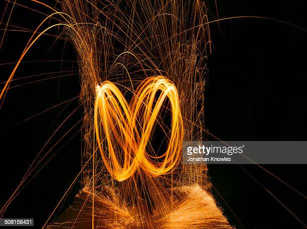 sparks, light painting - spinning stock pictures, royalty-free photos & images