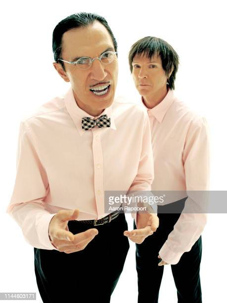 Sparks members Ron Mael and Russell Mael pose for a portrait in Hollywood California