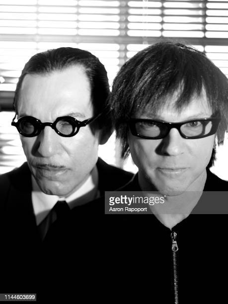Sparks members Ron Mael and Russell Mael pose for a portrait in Hollywood, California