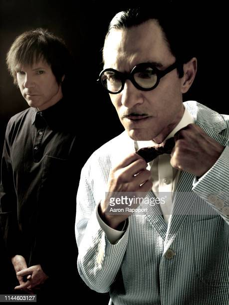 Sparks members Russell Mael and Ron Mael pose for a portrait in Hollywood California