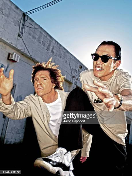 Sparks members Russell Mael and Ron Mael pose for a portrait in Hollywood, California
