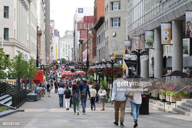 sparks street mall, ottawa, canada in summer - downtown stock pictures, royalty-free photos & images